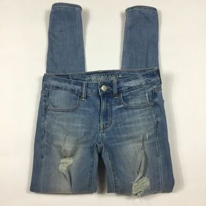 American Eagle Distressed Jegging Size 2 Long